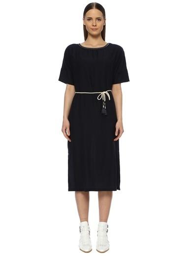 NetWork Kadın 1072914 Basic Fit Sırt Detaylı Midi Elbise Lacivert